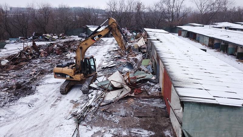 Демонтаж гаража