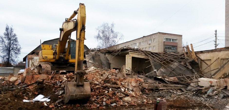 Снос 4х строений в г.Алексин Тульской области демонтажной компанией Строительство и Инвестиции