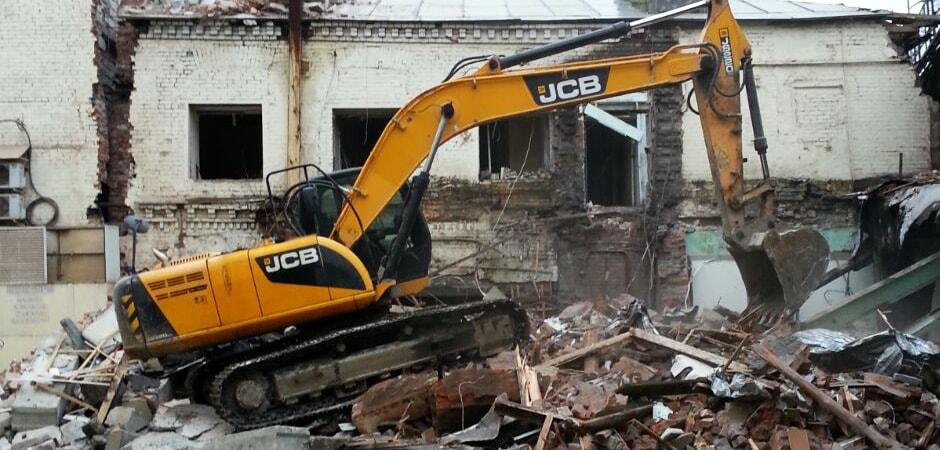 Снос пристройки к офисному зданию по адресу г.Москва Колодезный переулок вл 3 стр 7 демонтажной компанией Строительство и Инвестиции